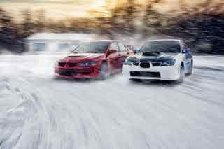 Гонки на машинах по снегу